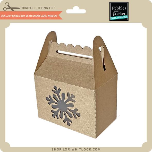 Scallop Gable Box with Snowflake Window