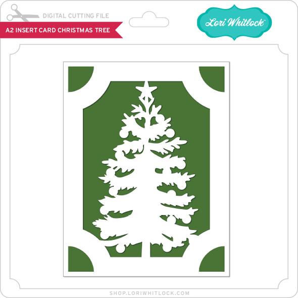 A2 Insert Card Christmas Tree 2