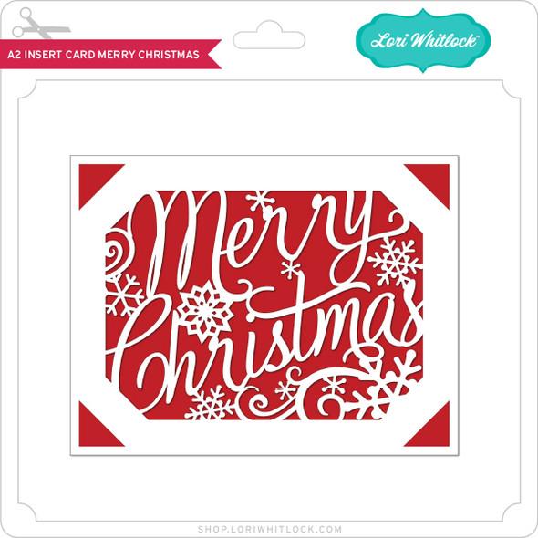 A2 Insert Card Merry Christmas