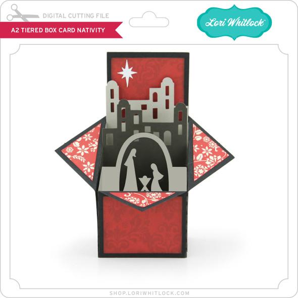 A2 Tiered Box Card Nativity