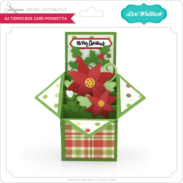 A2 Tiered Box Card Poinsettia
