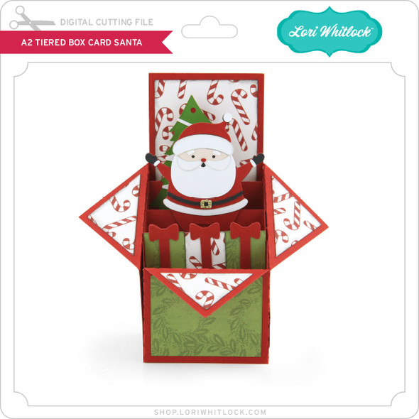 A2 Tiered Box Card Santa