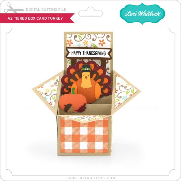 A2 Tiered Box Card Turkey