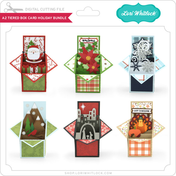 A2 Tiered Box Card Holiday Bundle