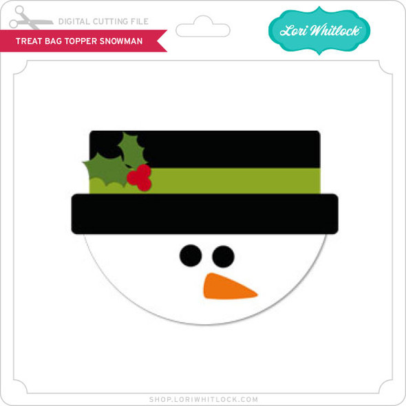 Treat Bag Topper Snowman