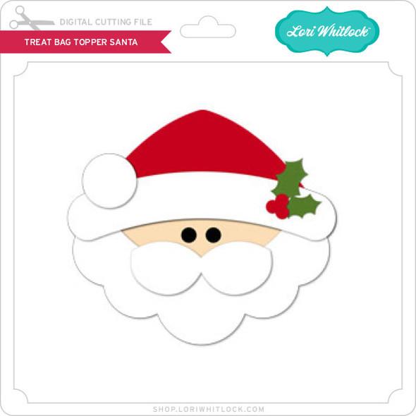 Treat Bag Topper Santa