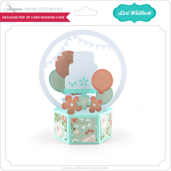 Hexagon Pop Up Card Wedding Cake