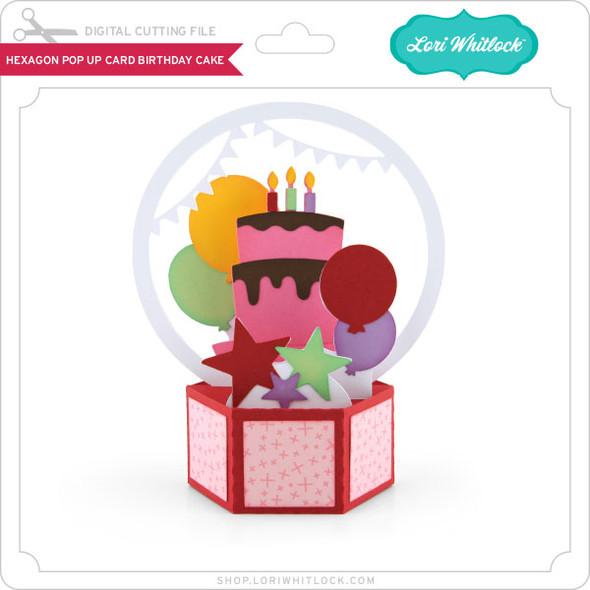 Hexagon Pop Up Card Birthday Cake