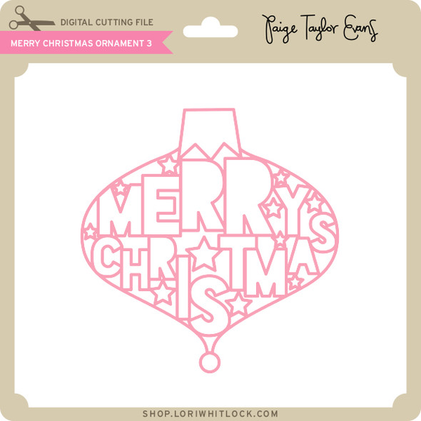 Merry Christmas Ornament 3