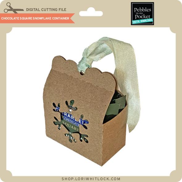 Chocolate Square Snowflake Container
