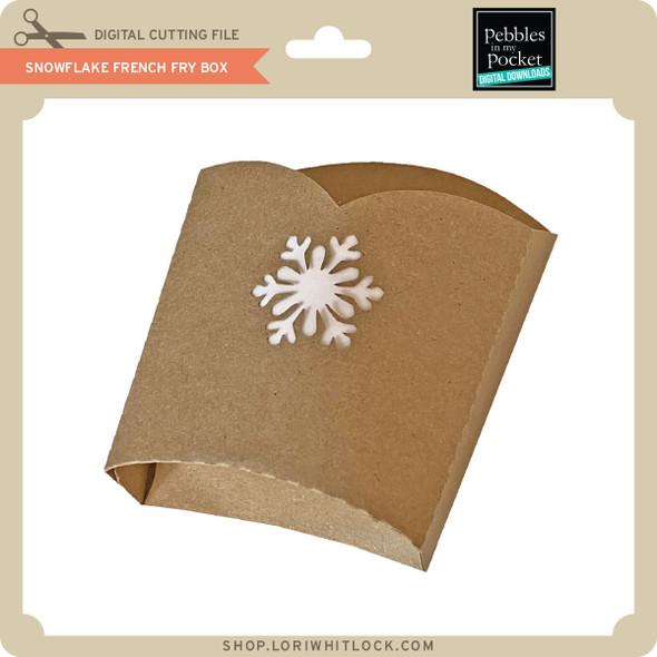 Snowflake French Fry Box