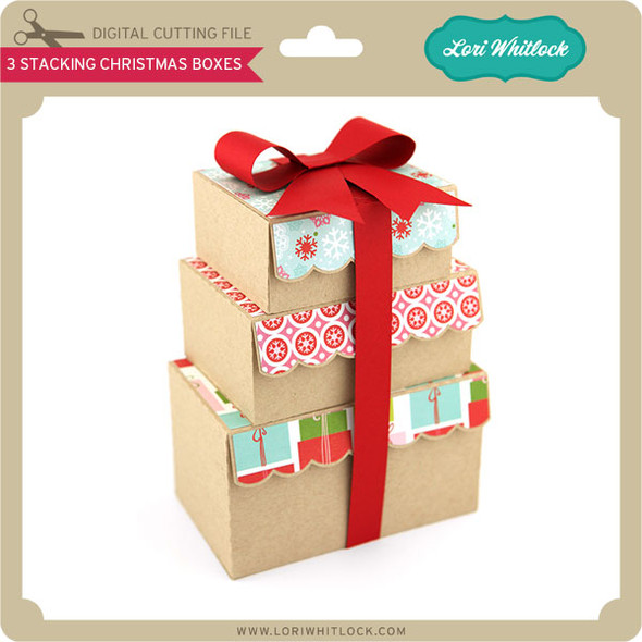 3 Stacking Christmas Boxes