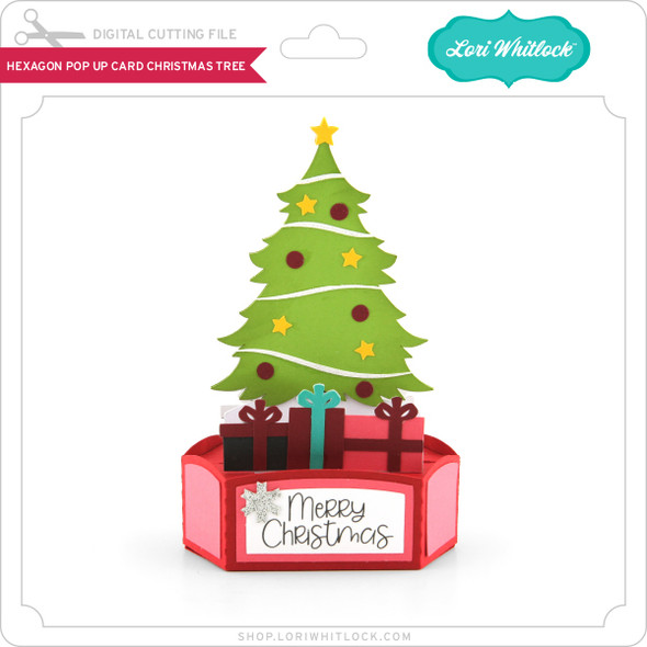 Hexagon Pop Up Card Christmas Tree