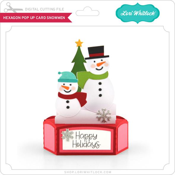 Hexagon Pop Up Card Snowmen