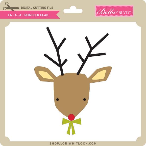 Fa La La - Reindeer Head