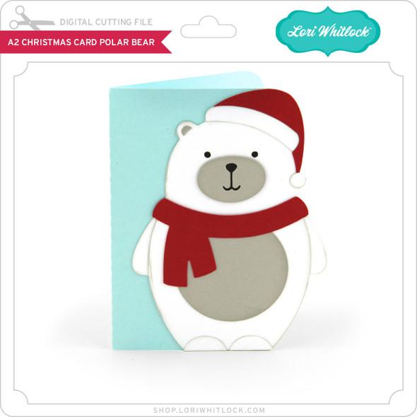 A2 Christmas Card Polar Bear