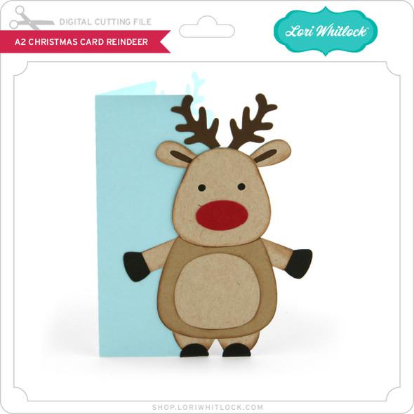 A2 Christmas Card Reindeer