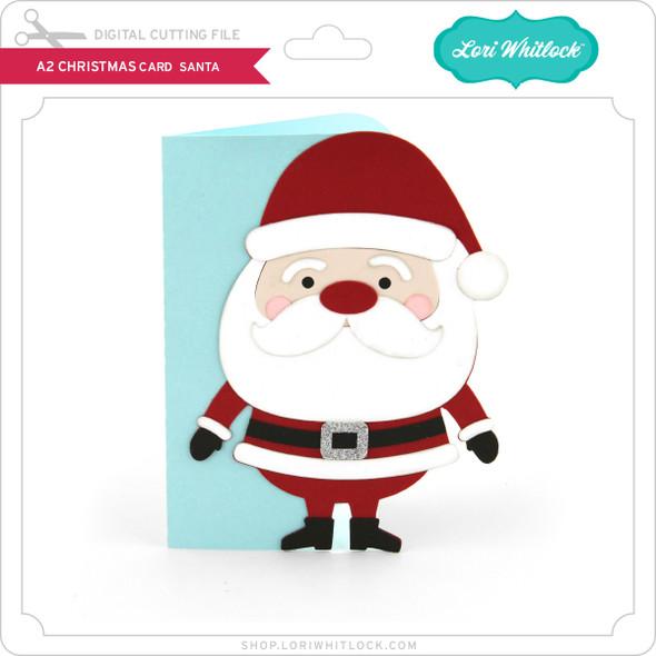 A2 Christmas Card Santa
