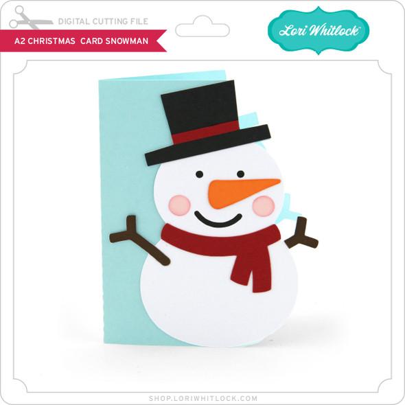 A2 Christmas Card Snowman