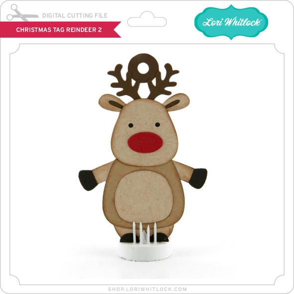 Christmas Tag Reindeer 2