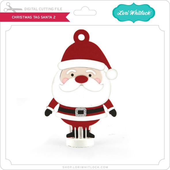 Christmas Tag Santa 2