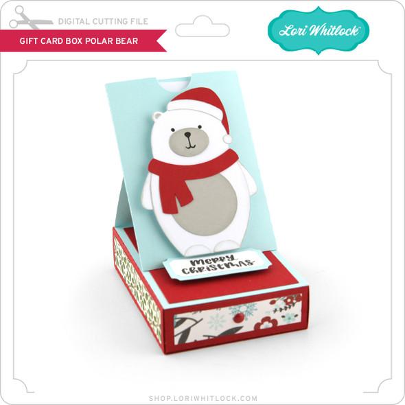 Gift Card Box Polar Bear
