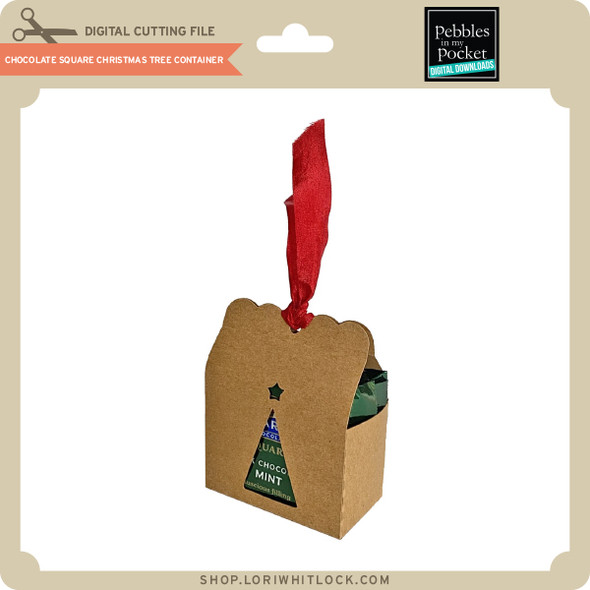 Chocolate Square Christmas Tree Container