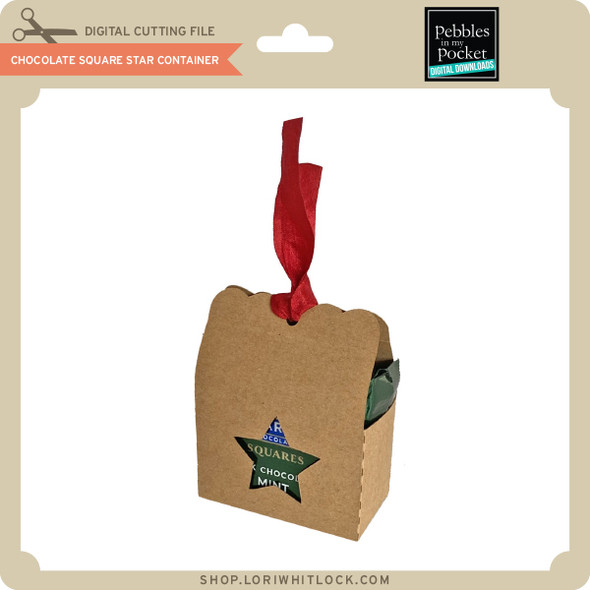 Chocolate Square Star Container