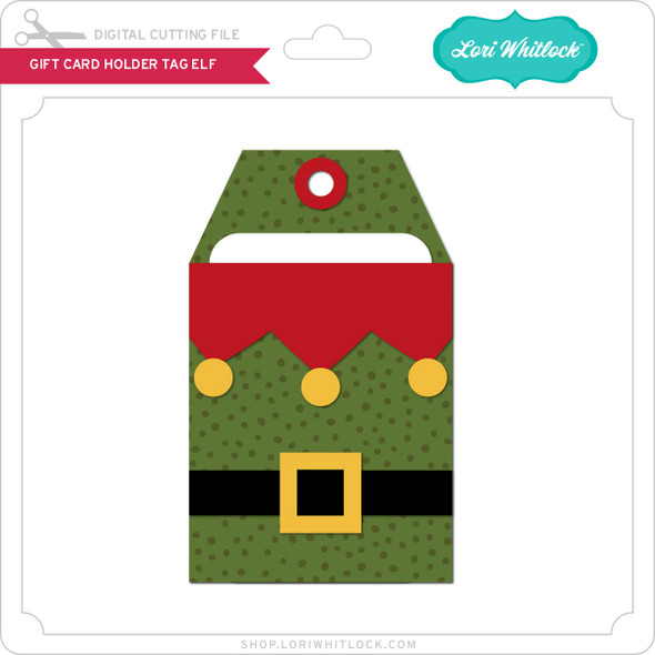 Gift Card Holder Tag Elf