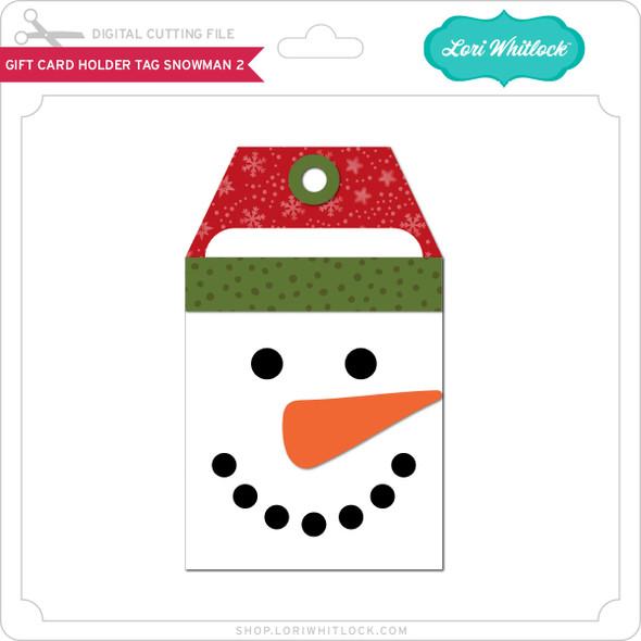 Gift Card Holder Tag Snowman 2