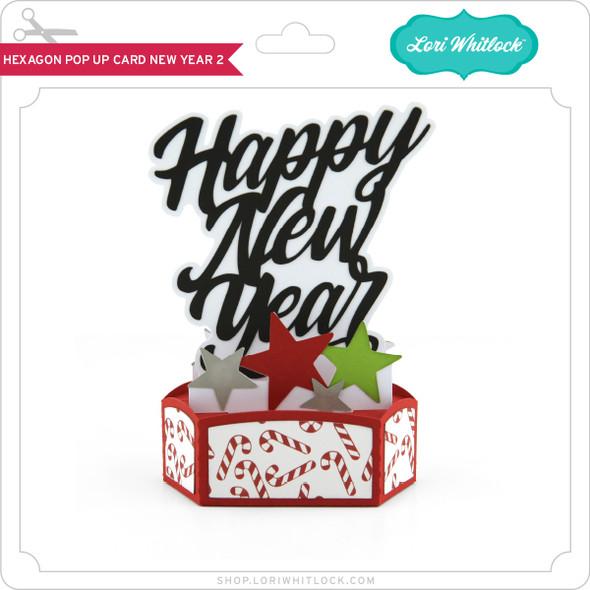 Hexagon Pop Up Card New Year 2
