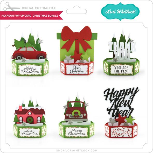 Hexagon Pop Up Card Christmas Bundle