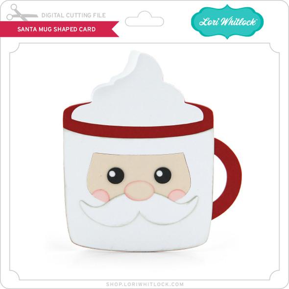 Santa Mug Shaped Card