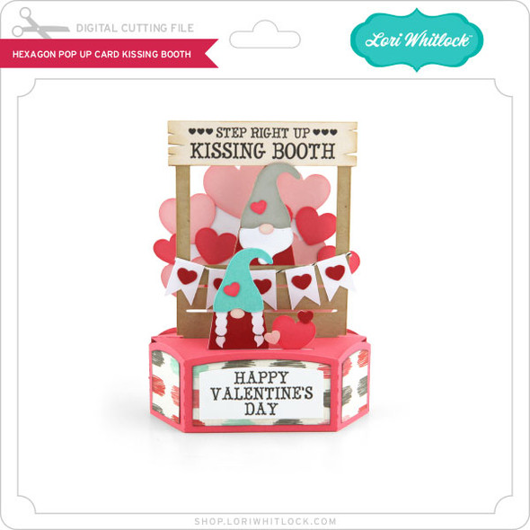 Hexagon Pop Up Card Kissing Booth