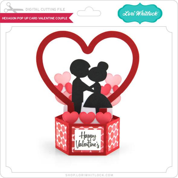 Hexagon Pop Up Card Valentine Couple