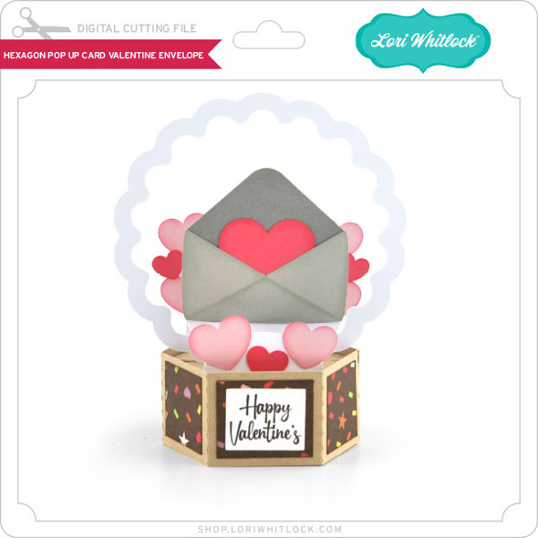 Hexagon Pop Up Card Valentine Envelope