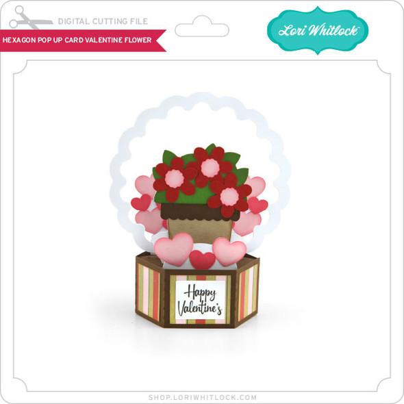Hexagon Pop Up Card Valentine Flower