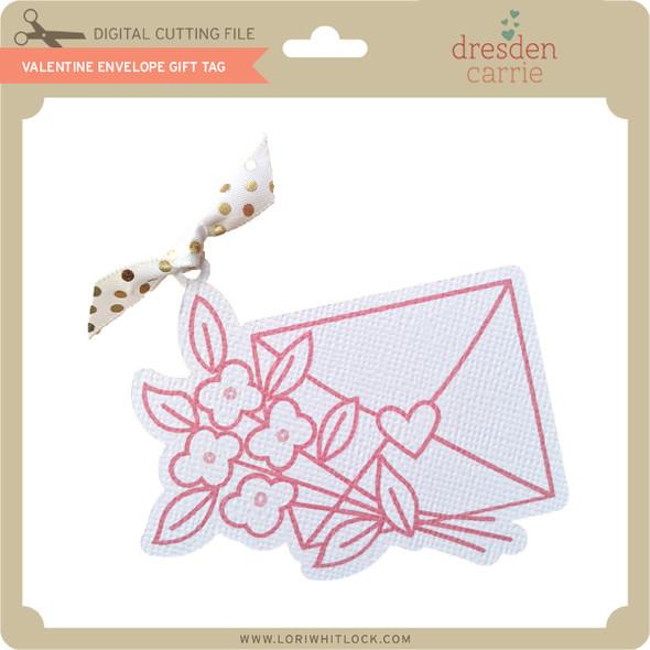 Valentine Envelope Gift Tag
