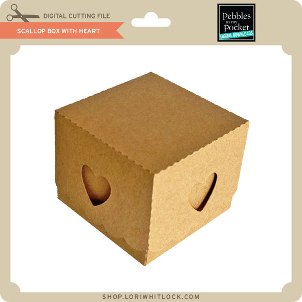 Scallop Box with Heart