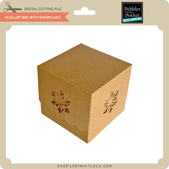Scallop Box with Snowflake