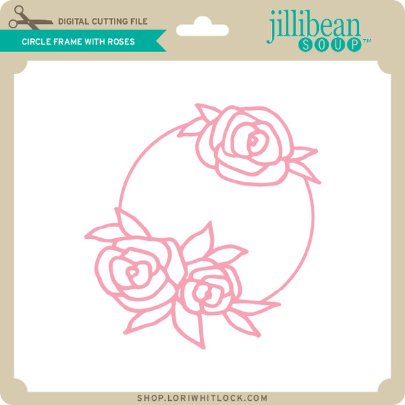 Circle Frame with Roses