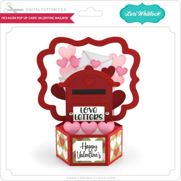 Hexagon Pop Up Card Valentine Mailbox