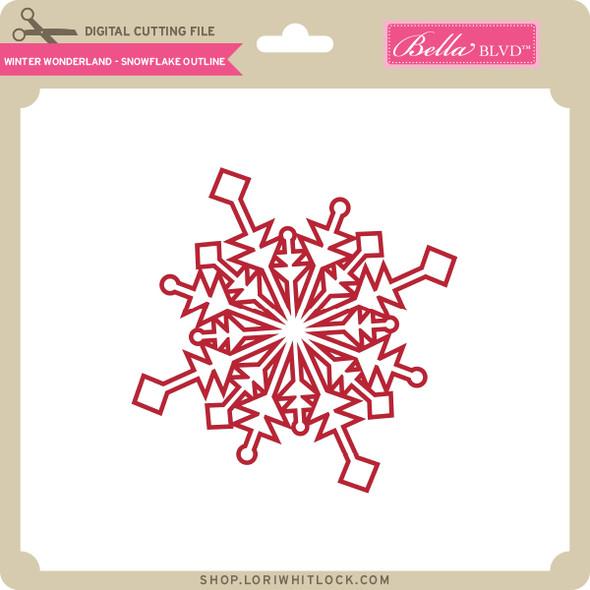 Winter Wonderland - Snowflake Outline