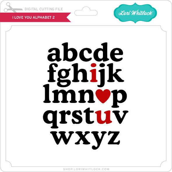 I Love You Alphabet 2