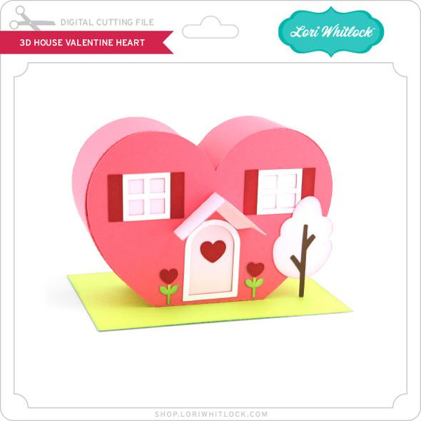 3D House Valentine Heart