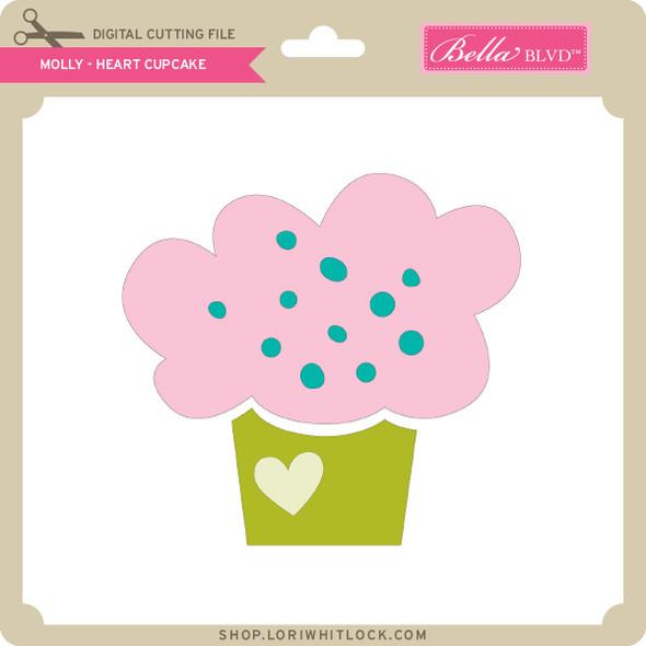 Molly - Heart Cupcake