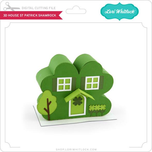3D House St Patrick Shamrock
