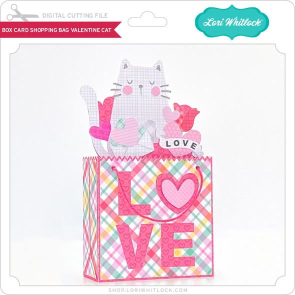Box Card Shopping Bag Valentine Cat