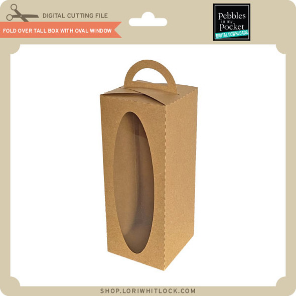 Fold Over Tall Box with Oval Window