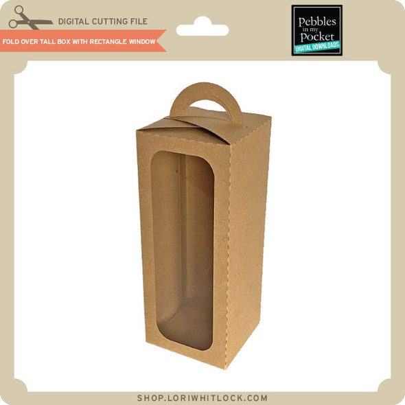 Fold Over Tall Box with Rectangle Window